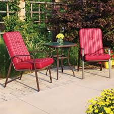 3 Pc Patio Bistro Set Outdoor Table And Chairs Wrough Iron With Three Piece Outdoor Furniture