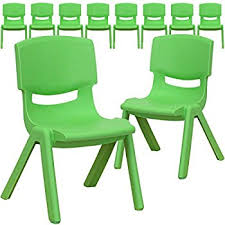 plastic school chairs. Flash Furniture 10 Pk. Green Plastic Stackable School Chair With 10.5\u0027\u0027 Seat Height Chairs