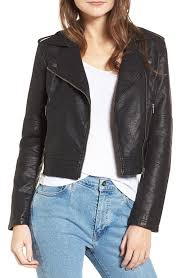 cupcakes and cashmere women s cupcakes and cashmere burwell faux leather moto jacket