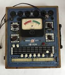Details About Vintage Emc 205 Tube Tester With Roll Chart Tested Against A Hickok 6000a