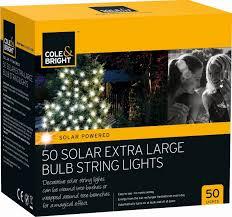 50 Solar Extra Large Bulb String Lights 999