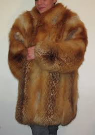 red fox fur coat made in italy