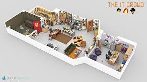 floor plan of the office. The IT Crowd Floor Plan Of Office
