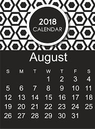 Blank Calendar Excel August 2018 Calendar Pdf Excel Word Download Free Printable