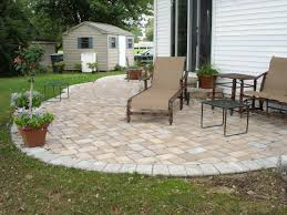 exellent brick concrete paver patio designs installation cost great ideas furniture interlocking stones for your outdoor the cobblestone driveway