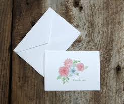 Blushing Anemone Wedding Thank You Notes – El's Cards