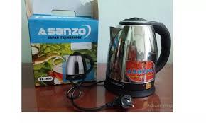 HÀNG VIỆT NAM] Bình Đun Siêu Tốc Inox Asanzo SK-1800( Công suất 1500W) -(  Toàn Thân Inox Sang Trọng) Hàng Chính Hãng: Mua bán trực tuyến Ấm siêu tốc  với giá rẻ