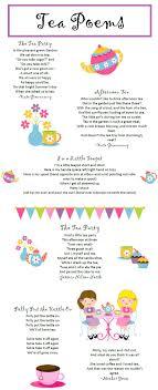 Free Tea Party Poems Printable Downloadable Pdf File Teas Fun