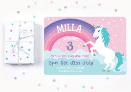 Personalised Birthday Invitations For Kids 11 Magical Unicorn Birthday Party Ideas Bright Star Kids