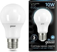 <b>Лампочка Gauss</b> Black LED, A60, E27, 10W. <b>102502210</b>