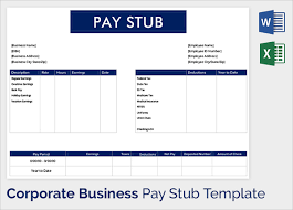 Pay Stub Samples Templates Sample Pay Stub Template 24 Download Free Documents In Pdf Word