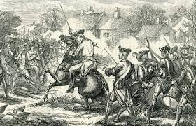 battle of lexington and concord major pitcairn enters lexington battle of lexington and concord 19th 1775 american revolutionary war