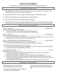 Program Specialist Resume Custom Dental Specialist Resume Assistant R Good Example For Billing