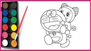 Tô màu Doraemon và Doremi dễ thương | Color the cute doraemon and doremi...