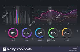 Modern Charts And Graphs Dashboard Infographic Template With Modern Design Weekly And