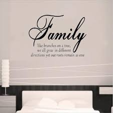 family like branches quotes removable vinyl wall art grow different direction roots remain architecture on vinyl wall art ideas with wall art design ideas family like branches quotes removable vinyl