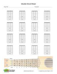 Blank Ukulele Chord Chart Printable Image Result For Blank Ukulele Neck Diagram Skills