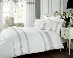 silver grey black white diamante duvet