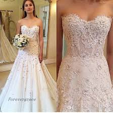 Discount 2019 Cheap Amazing Lace Appliques A Line Wedding Dress Vintage Backless Summer Reception Bridal Gown Custom Made Plus Size Tidebuy Wedding