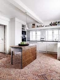 brick floor kitchen brick kitchen