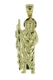 floreo 10k yellow gold saint jude thaddeus charm pendant necklace com