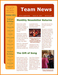 Newsletter Format Examples 11 Company Newsletter Templates Free Sample Example Format