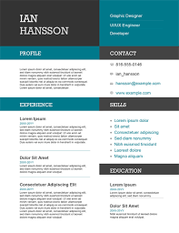 Free Online Modern Resume Maker Resumes And Cover Letters Office Com