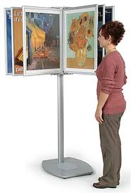 Multiple Poster Display Stands Add panel display systems to your museum or gift shop 11