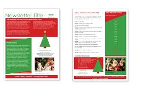 Free Download Newsletter Templates Free Download Christmas Newsletter Templates Bellafabricsva Com
