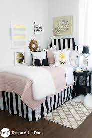 blush black gold fur designer teen girls bedding