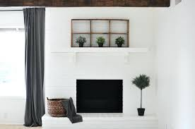 painting your brick fireplace ho white diy fireplce pinted fireplces painting your brick fireplace decorating ideas