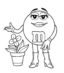Coloring Pages M E Ms Picture 1