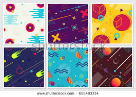 large templates memphis style large background design collection stock vector