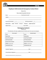 In Case Of Emergency Form For Employees 12 13 In Case Of Emergency Form Jadegardenwi Com