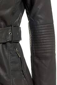 black ss7 new women s faux leather biker coat jacket black sizes 8 to 16