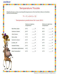 Temperature Trouble – Printable Conversion Worksheet for 6th Grade ...