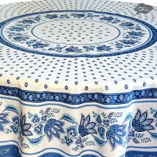 french country tablecloth round white cotton coated i dream of 70 inch