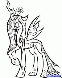 Small Picture My Little Pony Queen Chrysalis Coloring Pages Coloring Pages