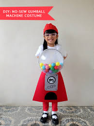 diy no sew gumball machine costume tutorial