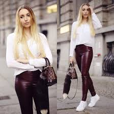 leather pants outfit ideas style 8