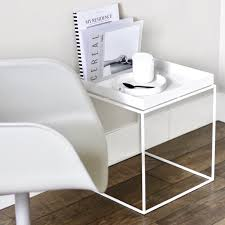 Tray Table Hay Tray Side Table White 40x40 Cm