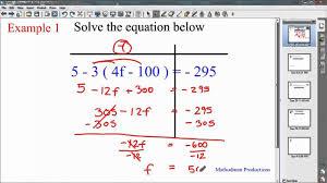 algebra solving multi step equations