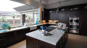 black kitchen cabinets with white marble countertops. Simple Kitchen Contemporary Kitchen With Dark Wood Cabinets And White Marble Counters In Black Kitchen Cabinets With White Marble Countertops R
