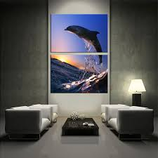wildlife canvas wall art living room wall art 2 piece huge canvas art  on large multi panel canvas wall art with 2 piece multi panel canvas dolphin canvas wall art water large