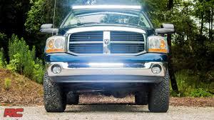 2004 Dodge Ram Bumper Light Bar 2003 2017 Dodge Ram 2500 3500 20 Inch Led Light Bar Bumper Mount By Rough Country
