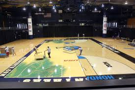 Fiu Basketball Court Designs Replacement Brought In For Damaged Lime Court Panthernow