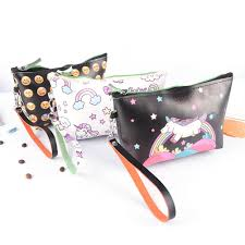 3d printing unicorn emoji makeup bags with multicolor pattern cute cosmetics pouchs for travel las pouch women cosmetic bag beauty makeup from huangcen