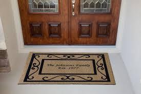 Front Door Mats Funny In Glomorous Half Circle Wooden Door Mat On ...