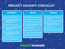 The Only Project Kickoff Checklist You Need Projectmanager Com