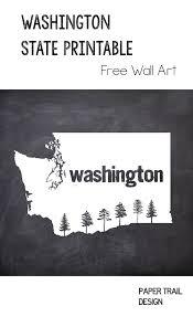Free Printable Washington State Map Wall